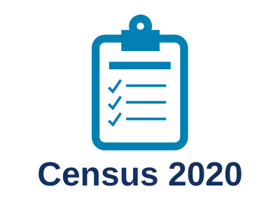 Button: Census 2020 with blue clipboard icon