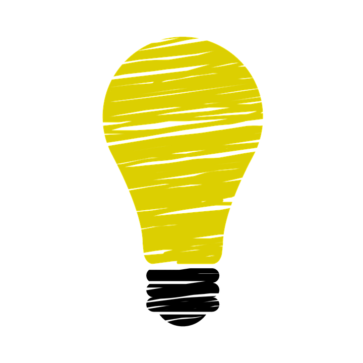illustration of a yellow light bulb